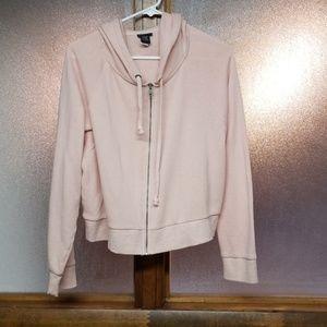 Torrid blush cropped zippered hoodie
